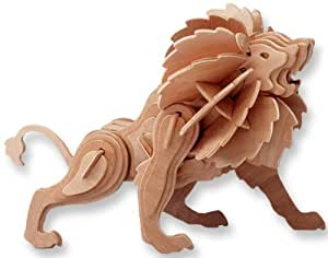 All4LessShop 3 D Wooden Puzzle Lion Affordable Gift for your Little One! Item #DCHI WPZ M028