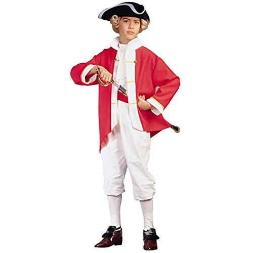 Child's Red Colonial Captain Costume
