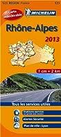 Carte REGION Rhône Alpes 2013 n°523