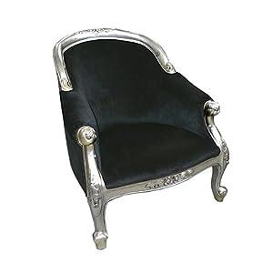 fauteuil baroque velours noir aramis cuisine maison. Black Bedroom Furniture Sets. Home Design Ideas