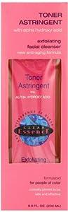 Clear Essence Anti-Aging Skin Toner Astringent with Alpha Hydroxy Acid 236ml
