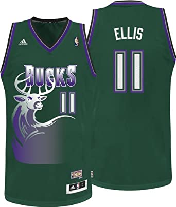 Milwaukee Bucks Monta Ellis Hardwood Classic Nights HWC Adidas Swingman Revolution 30... by adidas