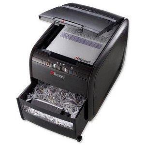 Rexel AutoPlus 60X Shredder Confetti Cross Cut 15 Litre DIN 3 4x50mm 60x 80gsm Ref 2103060