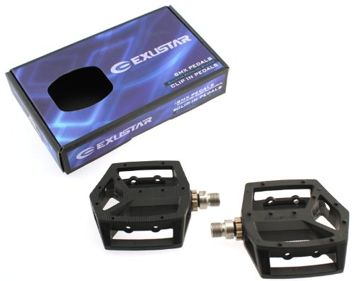 "EXUSTAR E-PB60 EPS BMX Mountain MTB Bike Aluminum 9/16"" Pedals Downhill Alloy Pair with Sealed Bearings"