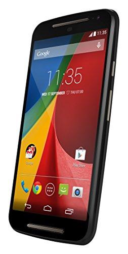 Motorola Moto G (2 Generazione) Smartphone, Display 5 pollici, Dual SIM, Memoria 8 GB, Fotocamera 8 MP, Quad-Core 1.2GHz, 1GB RAM, Android 4.4, Nero [Regno Unito]