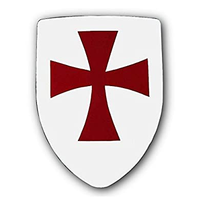 Armor Venue - Knights Templar Shield - White One Size