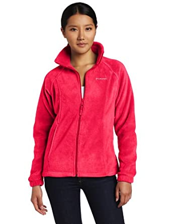 Columbia Women's Benton Springs Full Zip, Bright Rose, X-Small