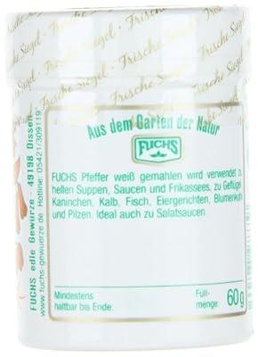 Fuchs Pfeffer weiß gemahlen, 2er Pack (2 x 60 g) von FUCHS bei Gewürze Shop