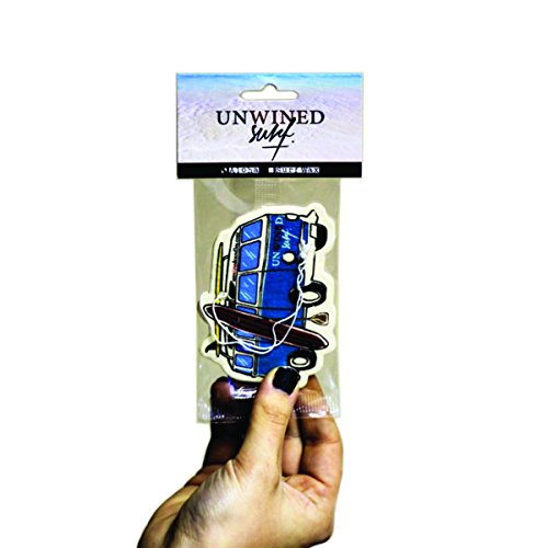 Unwined's Surf Wax Scented Bus Air Freshener 2-Pack (Unwined Surf Collection) (Surf Wax Scented Air Freshener compare prices)