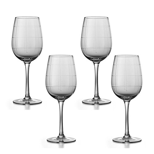 Set Of 4 Elegant Shaped Long Stemmed Wine Glasses Unique