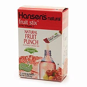 Hansen's Fruit and Tea Stix Drink Mix, Fruit Punch, 8 count boxes(Pack of 12)
