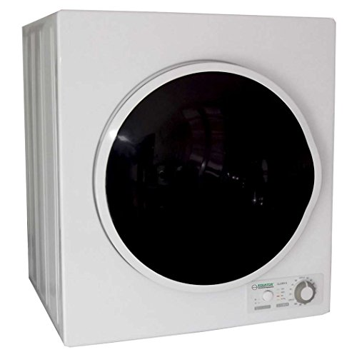 Pinnacle (18-850/W) White With Silver Trim Compact Electric Dryer