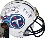 Kevin Dyson signed Tennessee Titans Replica Mini Helmet Music City Miracle & '99 AFC Champs Amazon.com