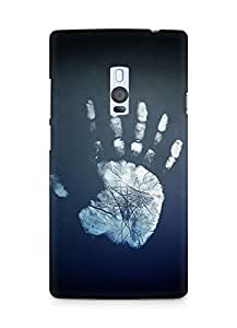 Amez designer printed 3d premium high quality back case cover for OnePlus Two (Hand impression)