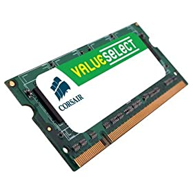 Corsair VS2GSDS667D2 ValueSelect 2 GB PC2-5300 667 MHz 200-PIN DDR2 CL5 SODIMM Laptop Memory