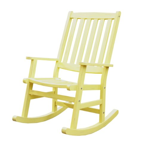 Home Styles Bali Hai Outdoor Rocking Chair, Yellow front-1020044