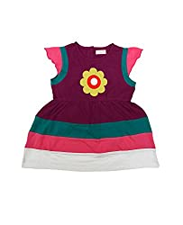 Juscubs Patch flower with multi-colour panelling frock