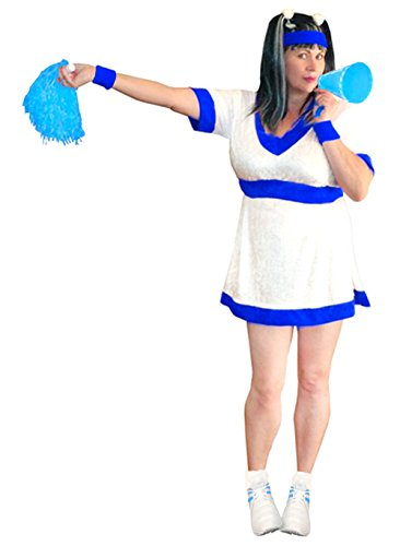 Women's Blue Cheerleader Plus Size Supersize Halloween Costume Dress