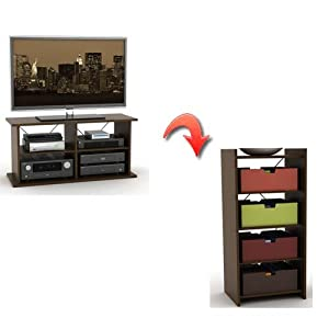 1 atlantic inc duo tv and audio stand in mocha home entertainment centers furniture decor Home furniture design inc