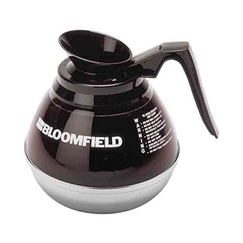 Bloomfield REG10114BLI Unbreakable Decanter, Plastic with Stainless Steel Bottom, Black Handle
