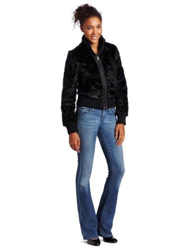 CoffeeShop Women's Faux Fur Bomber Jacket