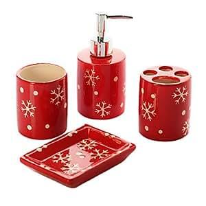 Amazon.com - Christmas Gift, 4 Piece Bath Ensemble ...