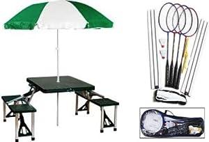 Buy This is a 2 piece bundle: Gamecraft Badminton Set, Portable Picnic Table by Gamecraft