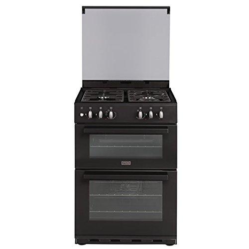 Stoves SDF60DOBLK 600mm Dual Fuel Double Oven Wok Burner Hob Black