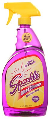 A J Funk & Co 20345 Sparkle Glass Cleaner, Original Purple Formula, 33.8-Ounce Trigger Bottle (Case Of 12)