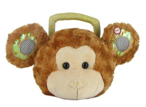 12x7 Head Phonz Plush Monkey MP3 Adaptor & Speakers