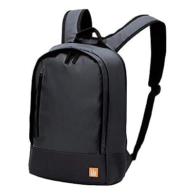 ELECOM バックパック コンパクトタイプ 超軽量 ターボリン生地 豊富な小物ポケット付 ブラック BM-BP01BK