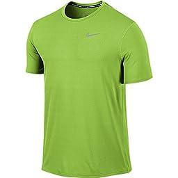 Nike Men\'s Dri-Fit Contour Short Sleeve - Medium - Action Green
