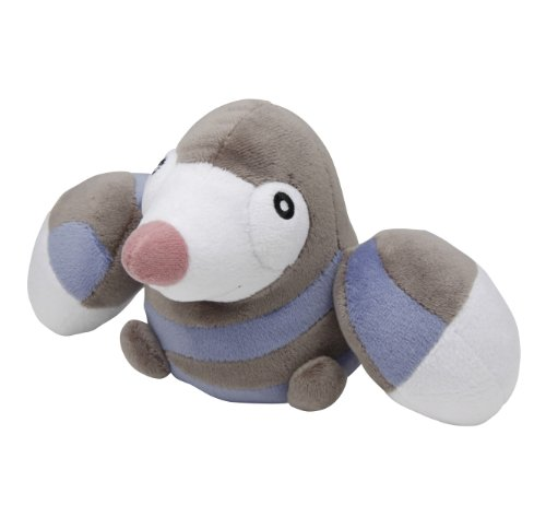 Pokemon Center Best Wishes Black & White Pokedoll Plush Doll - Drilbur/Mogurew