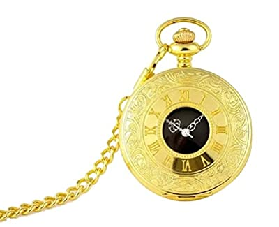 Handsome Gold Case Pocket Watch with Flowers