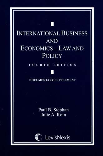 International Business and Economics - Law and Policy