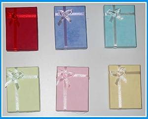 12 Scatole regalo con fiocco per bigiotteria - Colori Assortiti