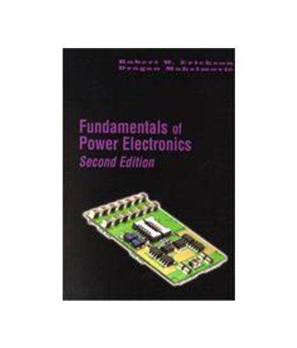 Fundamentals Of Power Electronics 2e By Robert W Erickson border=