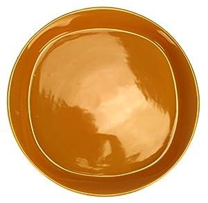Round & Square 16 Piece Dinnerware Set Color: Lemon Zest
