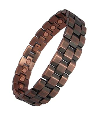 Mens Chunky Link Magnetic Bracelets - Copper or Gunmetal