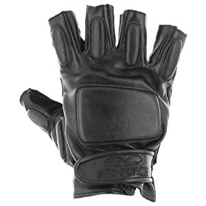 Pro-Force Tactical Mitts Army Forces Fingerless Gloves Airsoft Shooting Black by Pro-Force