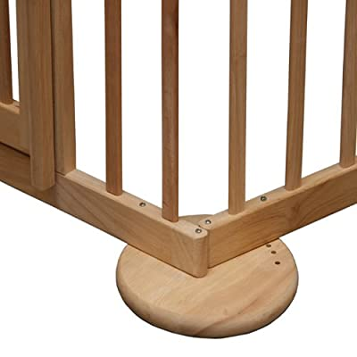 Room divider / playpen Max 120-170cm, wood, 2 elements by Bambino World