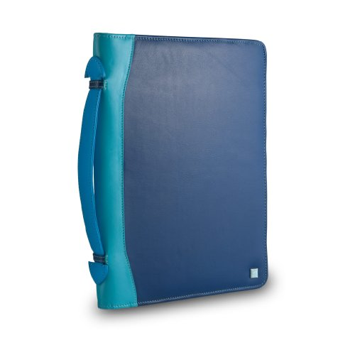 Cartella portadocumenti in pelle multicolore porta iPad di DUDU Blu