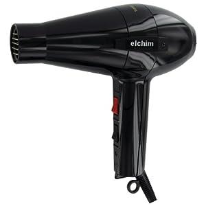Elchim 2001HP High Pressure Hair Dryer, Black, 2000 Watt