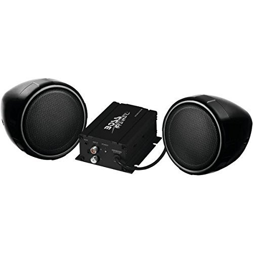 BOSS AUDIO MCBK420B All-Terrain 600-Watt Black Speaker & Amp System (With Bluetooth(R))