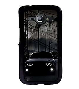ifasho Black Car Back Case Cover for Samsung J1