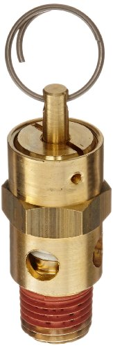 Control Devices ST Series Brass ASME Safety Valve, 150 psi Set Pressure, 1/4