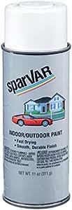 SparVar S101 Flat White Automotive and General Purpose Paint - 11 oz.