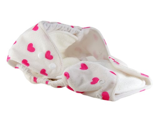 Pam Grace Creations 2 Piece Cloth Diaper,  Hearts