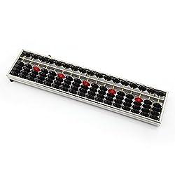 17 Columns Aluminium Alloy Frame Abacus Soroban Arithmetic Mathematic Calculating Education Tool