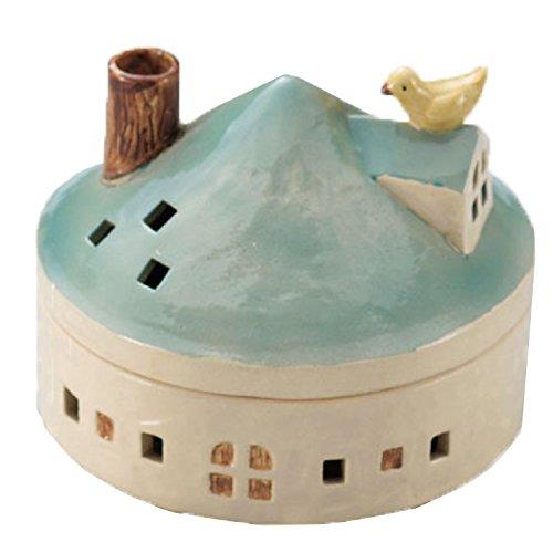 ドゥームー 煙突から煙が かわいい 蚊遣り ハウス ブルー 400587102